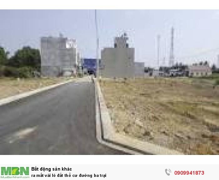 Ra mắt vài lô đất thổ cư đường Ba Trại