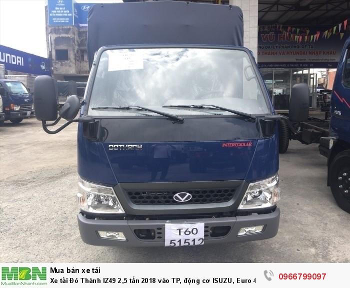 Xe tải Đô Thành IZ49 2,5 tấn 2018 vào TP, Euro 4 2
