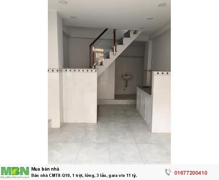 Bán nhà CMT8-Q10, 1 trệt, lửng, 3 lầu, gara oto
