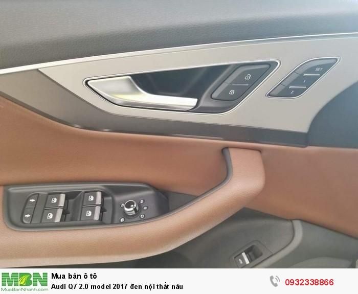 Audi Q7 2.0 model 2017 đen nội thất nâu