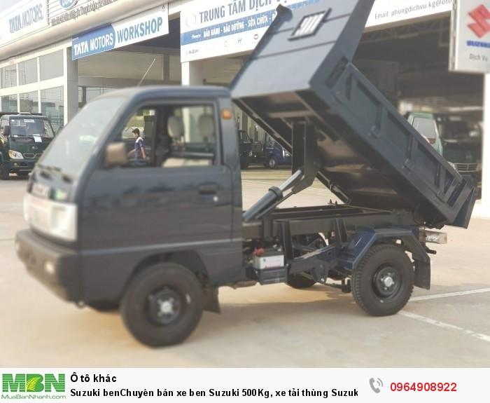 Suzuki ben Chuyên bán xe ben Suzuki 500Kg, xe tải thùng Suzuki 500Kg, 550Kg, 650Kg, 750Kg lắp ráp nhập 0