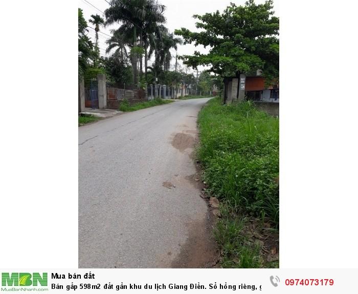 Bán gấp 598m2 đất gần khu du lịch Giang Điền. Sổ hồng riêng