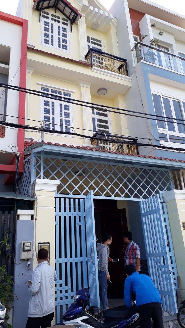 Nhà Phố Sổ Riêng Cần Bán 4x13m Xây 1 Trệt, 2 Lầu, Hẻm 6m.