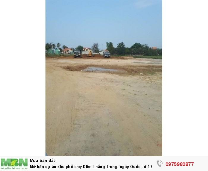 Mở bán dự án khu phố chợ Điện Thắng Trung, ngay Quốc Lộ 1 A.