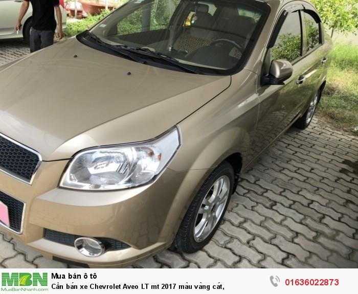 Cần bán xe Chevrolet Aveo LT mt 2017 màu vàng cát,