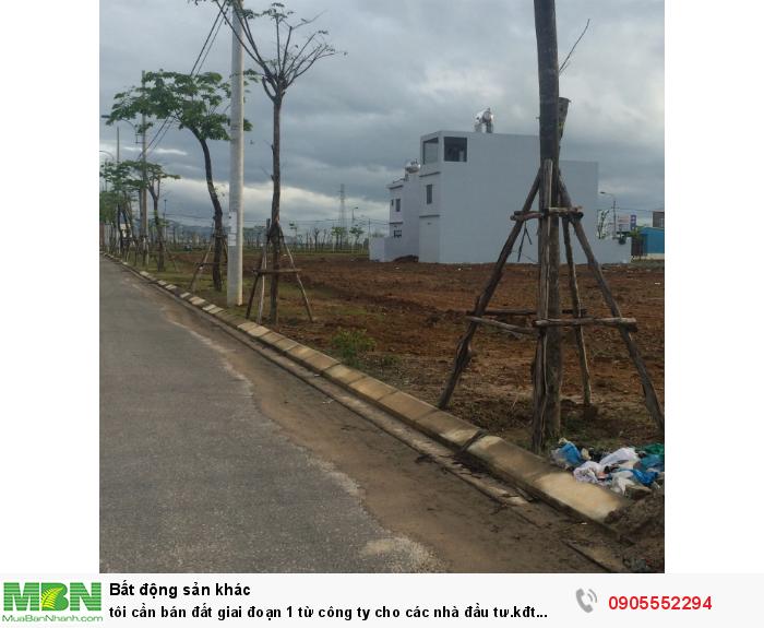 Tôi cần bán đất giai đoạn 1 từ công ty cho các nhà đầu tư.kđt central gate điểm vàng nam Đà Nẵng