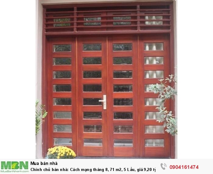 Chính chủ bán nhà: Cách mạng tháng 8, 71 m2, 5 Lầu, giá 9,20 tỷ + ĐẸP