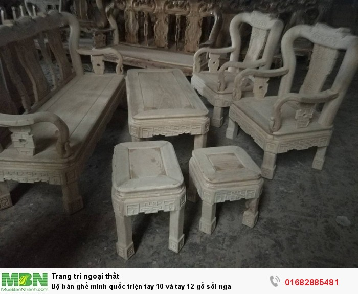 Bộ bàn ghế minh quốc triện gỗ sồi nga0