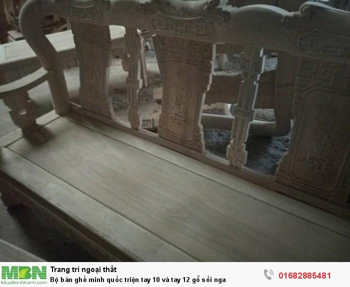 Bộ bàn ghế minh quốc triện gỗ sồi nga1