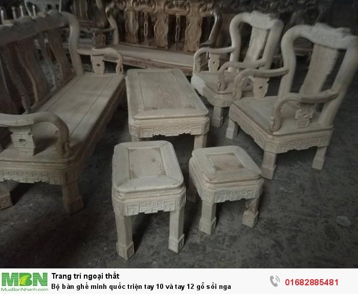 Bộ bàn ghế minh quốc triện gỗ sồi nga2