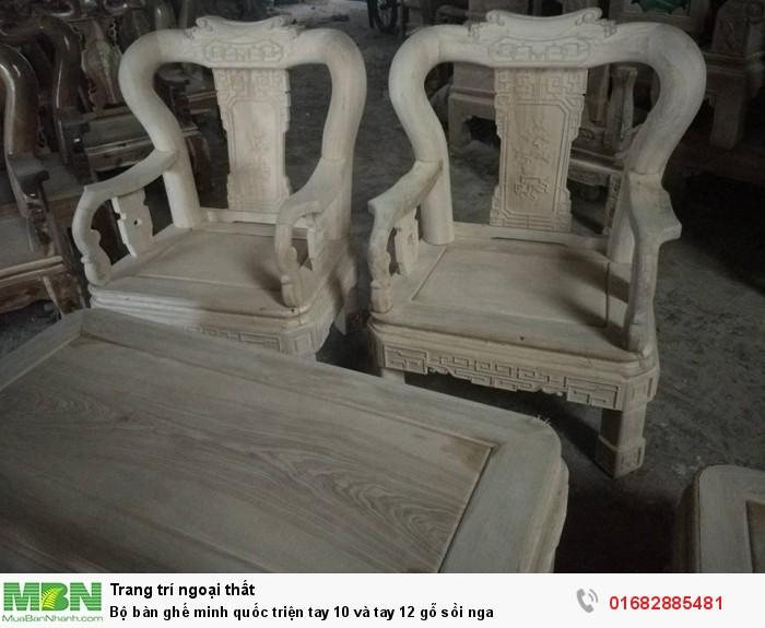 Bộ bàn ghế minh quốc triện gỗ sồi nga3