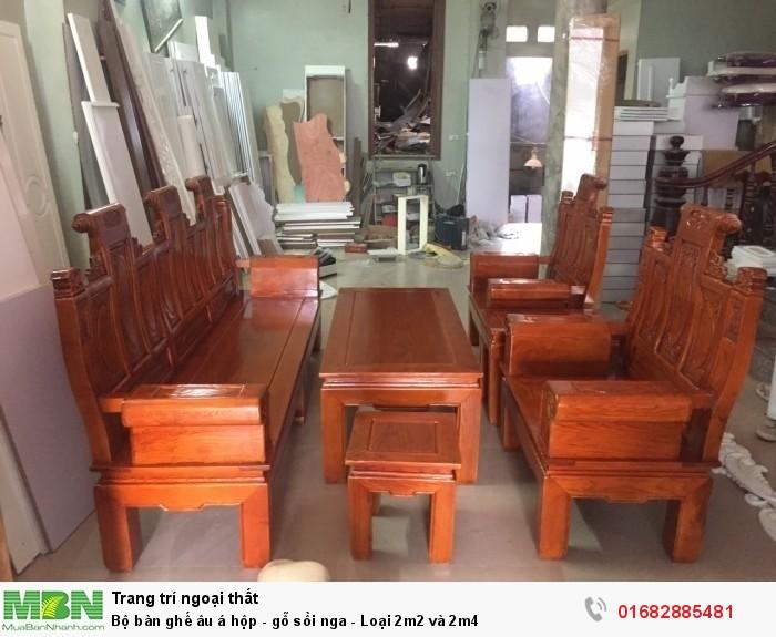 Bộ bàn ghế âu á hộp - gỗ sồi nga - Loại 2m2 và 2m40
