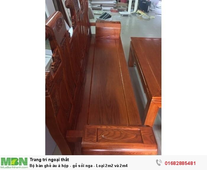Bộ bàn ghế âu á hộp - gỗ sồi nga - Loại 2m2 và 2m41