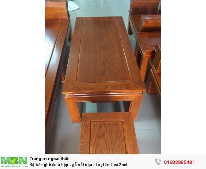 Bộ bàn ghế âu á hộp - gỗ sồi nga - Loại 2m2 và 2m42