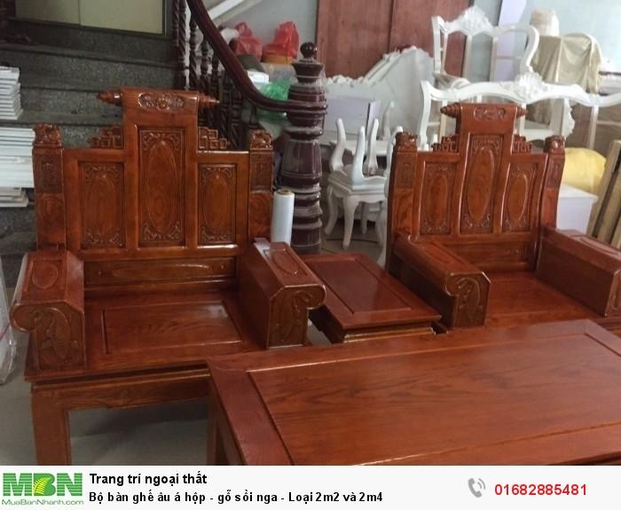 Bộ bàn ghế âu á hộp - gỗ sồi nga - Loại 2m2 và 2m45
