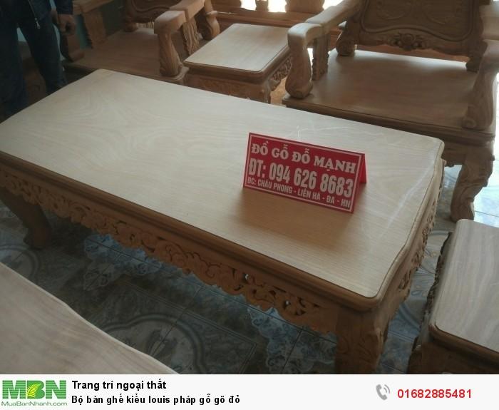 Bộ bàn ghế kiểu louis pháp gỗ gõ đỏ