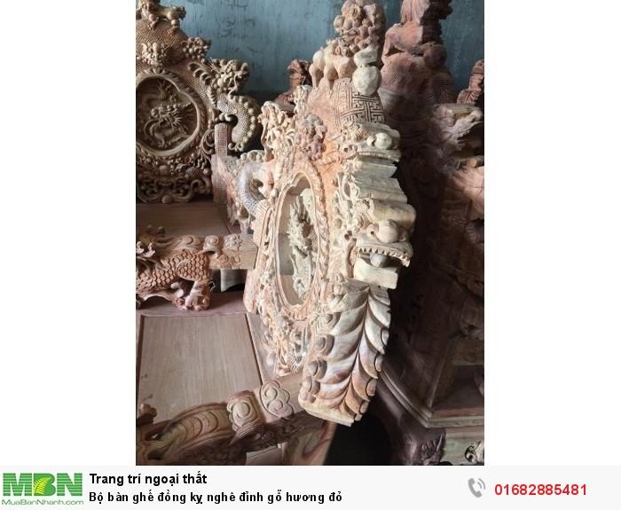 Bộ bàn ghế đồng kỵ nghê đỉnh gỗ hương đỏ6
