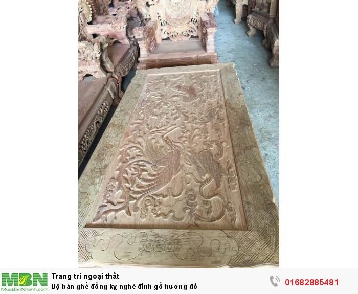 Bộ bàn ghế đồng kỵ nghê đỉnh gỗ hương đỏ8
