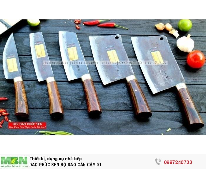 Dao Phúc Sen bộ dao bếp cán cẩm0