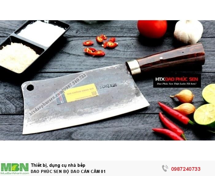 Dao Phúc Sen bộ dao bếp cán cẩm1