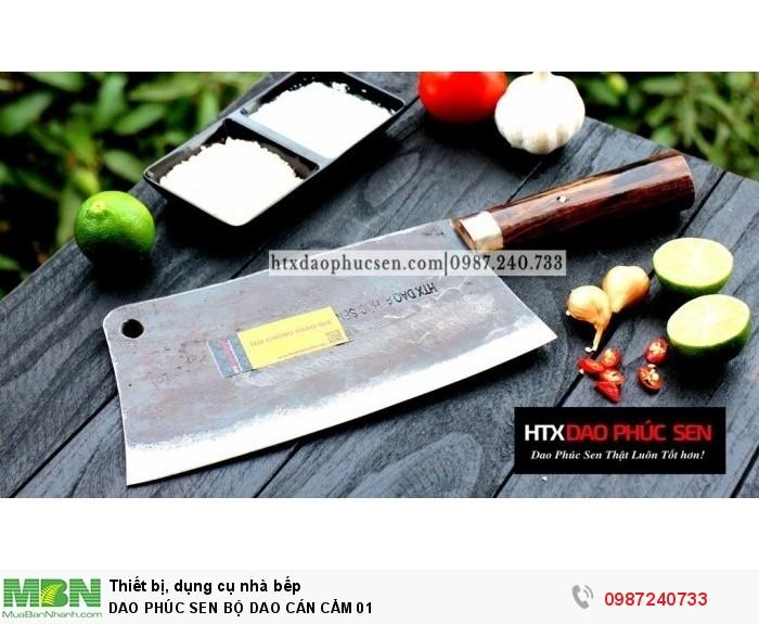 Dao Phúc Sen bộ dao bếp cán cẩm3