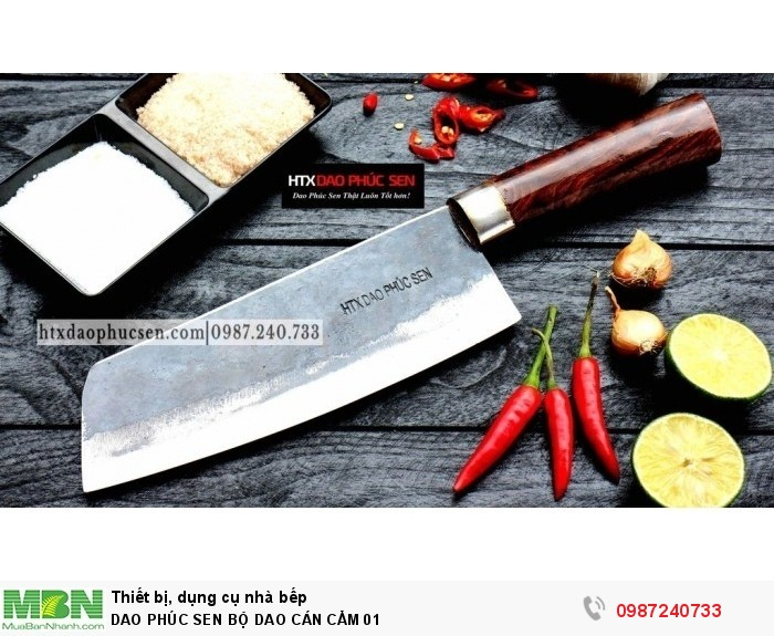 Dao Phúc Sen bộ dao bếp cán cẩm4