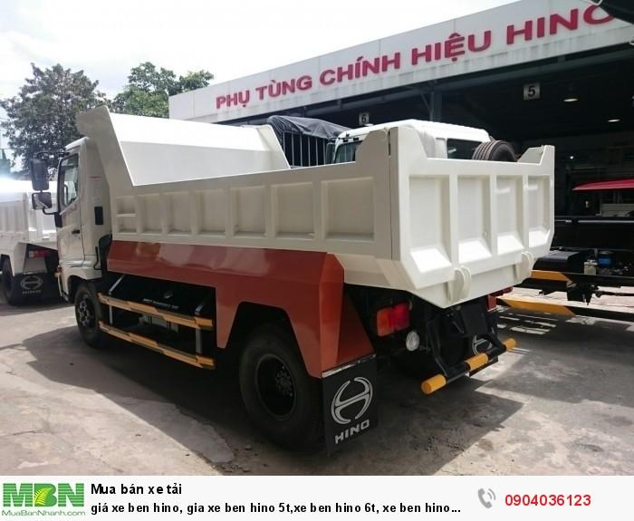 Giá xe ben Hino, gia xe ben Hino 5t, xe ben Hino 6t, xe ben Hino 4,7 khối, 1