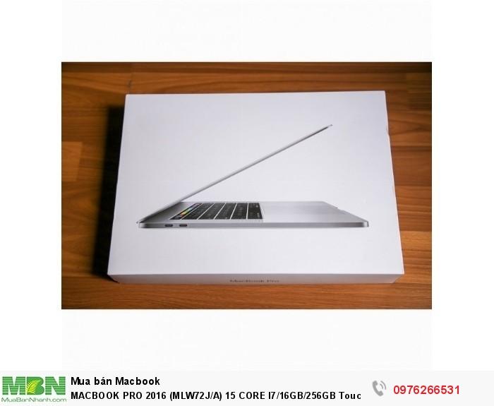 MACBOOK PRO 2016 (MLW72J/A) 15 CORE I7/16GB/256GB Touchbar + TouchID1