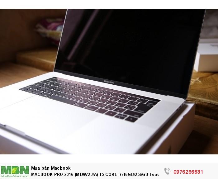 MACBOOK PRO 2016 (MLW72J/A) 15 CORE I7/16GB/256GB Touchbar + TouchID4