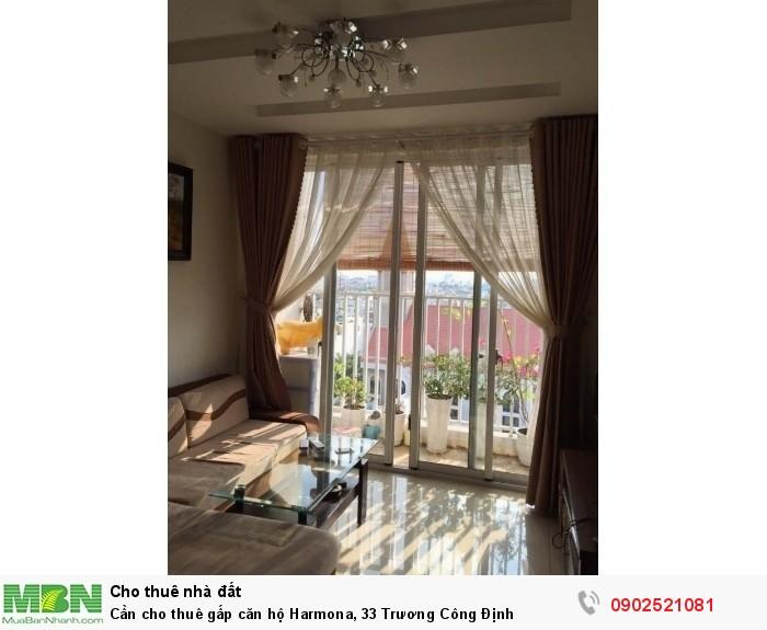 Cần cho thuê gấp căn hộ Harmona, 33 Trương Công Định