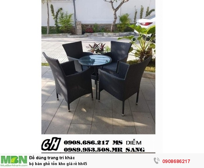 Bộ bàn ghế tổn kho giá rẻ hh451