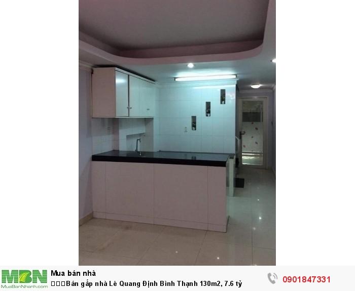 Bán gấp nhà Lê Quang Định Bình Thạnh 130m2, 7.6 tỷ