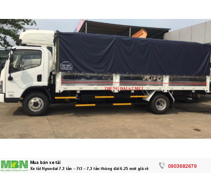 Xe tải Hyundai 7.3 tấn – 7t3 – 7,3 tấn thùng dài 6.25 mét giá rẽ