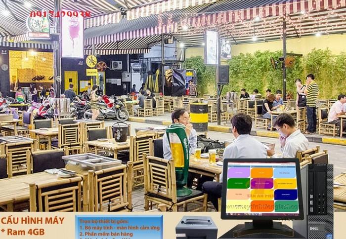 thanh lí máy tính tiền cảm ứng dành cho nhà hàng tại ĐN0