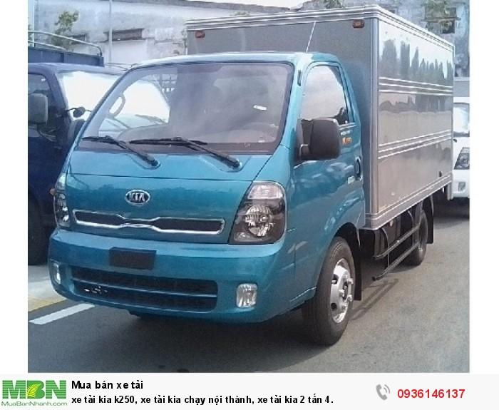 Xe tải kia k250, xe tải kia chạy nội thành, xe tải kia 2 tấn 4.