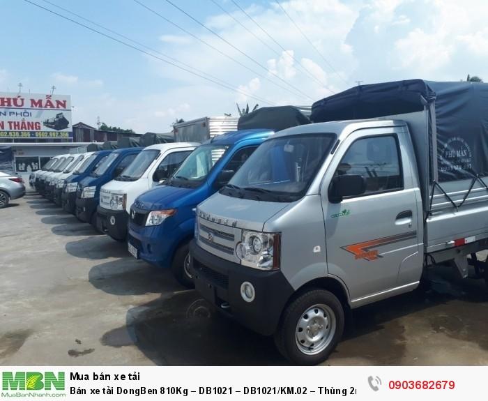 Bán xe tải DongBen 810Kg – DB1021 – DB1021/KM.02 – Thùng 2m5 0