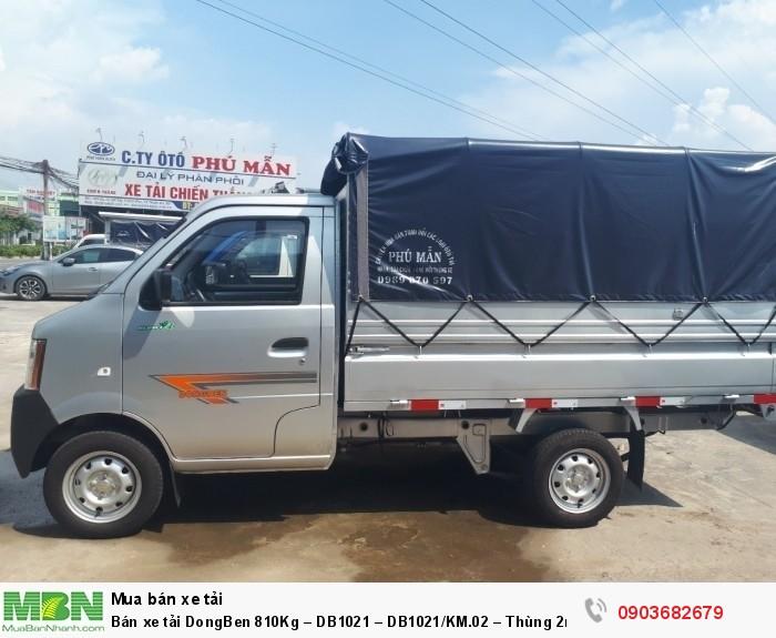 Bán xe tải DongBen 810Kg – DB1021 – DB1021/KM.02 – Thùng 2m5 1