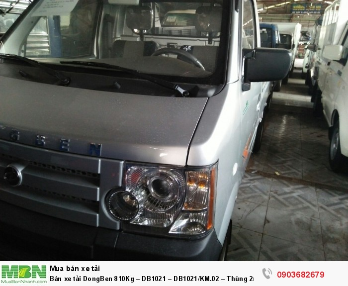 Bán xe tải DongBen 810Kg – DB1021 – DB1021/KM.02 – Thùng 2m5 2