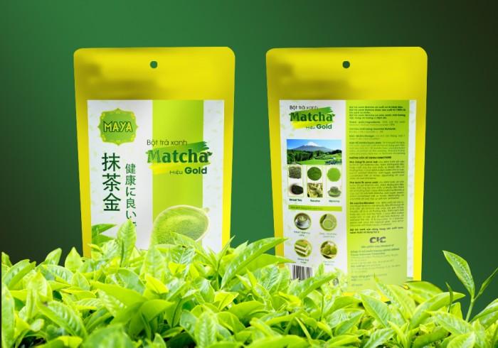 Bột trà xanh matcha hiệu Gold (100g/Túi)2