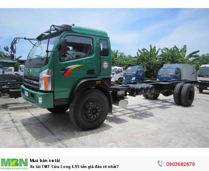 Xe tải TMT Cửu Long 4.95 tấn giá đâu rẽ nhất? 0