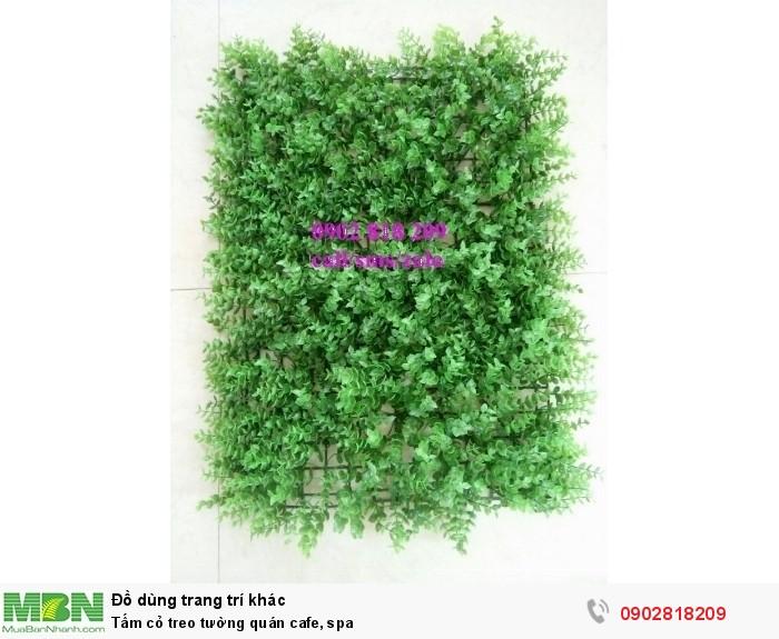 Tấm cỏ treo tường quán cafe, spa1