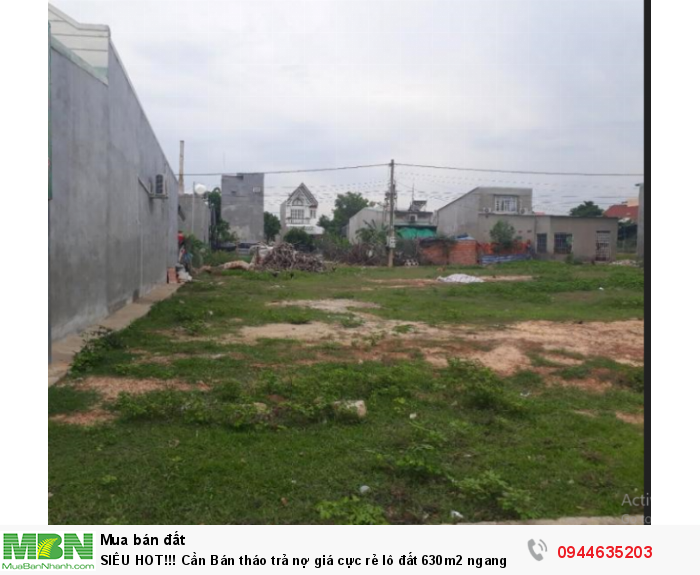 Cần Bán tháo trả nợ giá cực rẻ lô đất 630m2 ngang 18m đường Song Hành Quốc Lộ 22, SHR chỉ 3.2 tỷ.
