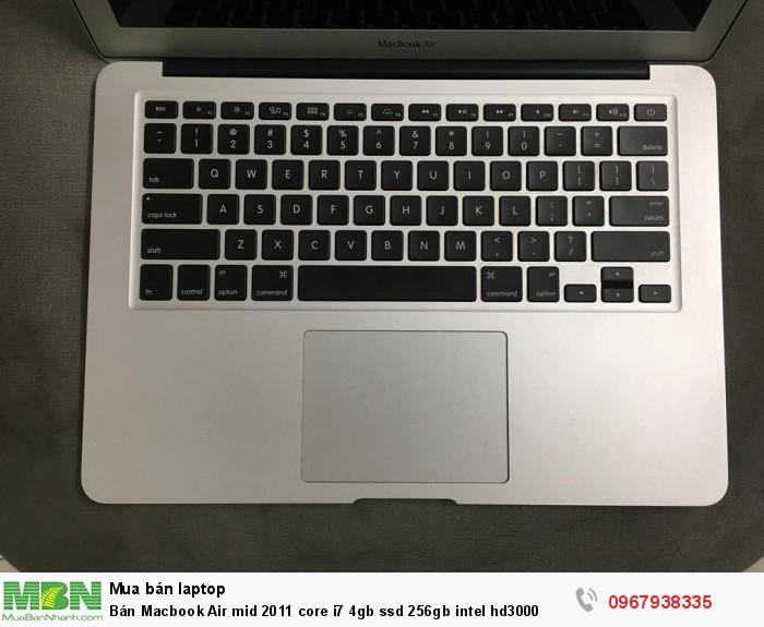 Bán Macbook Air mid 2011 core i7 4gb ssd 256gb intel hd30002