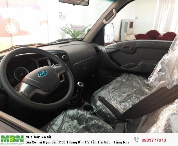 Giá Xe Tải Hyundai H150 Thùng Kín 1.5 Tấn  Trả Góp - Tặng Ngay Định Vị GPS 2