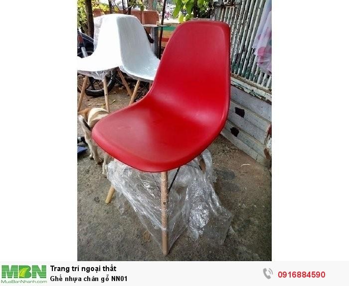 Ghế nhựa chân gỗ NN010