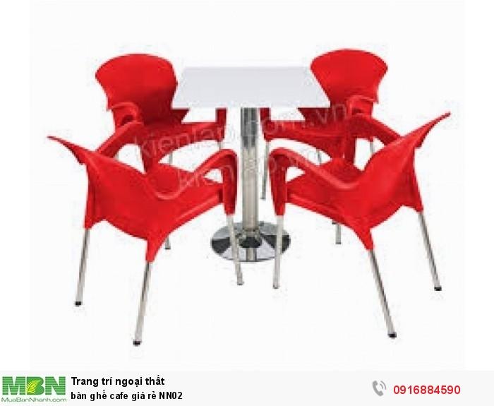 Bàn ghế cafe giá rẻ NN020