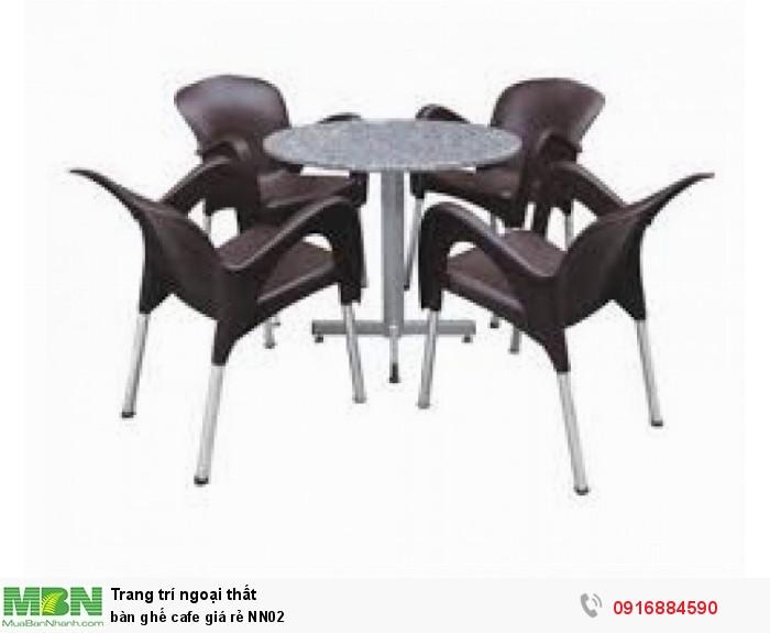 Bàn ghế cafe giá rẻ NN021