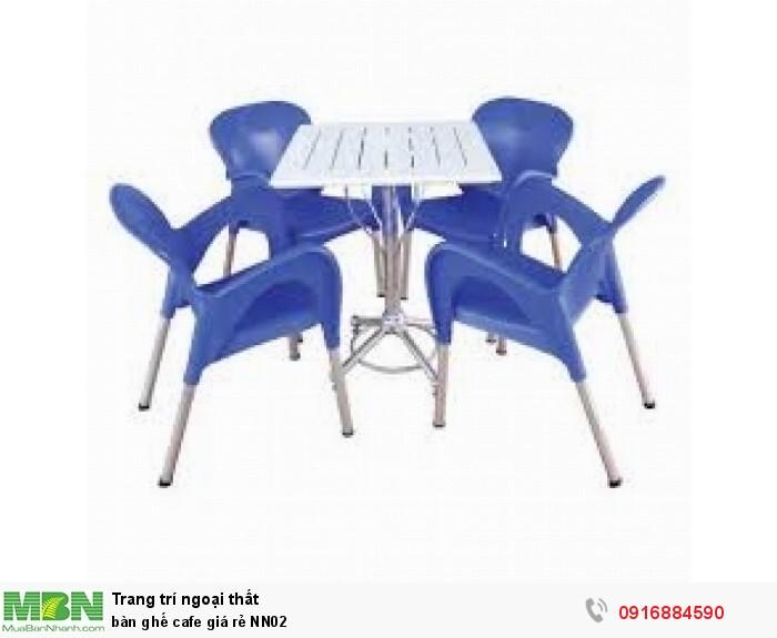 Bàn ghế cafe giá rẻ NN022