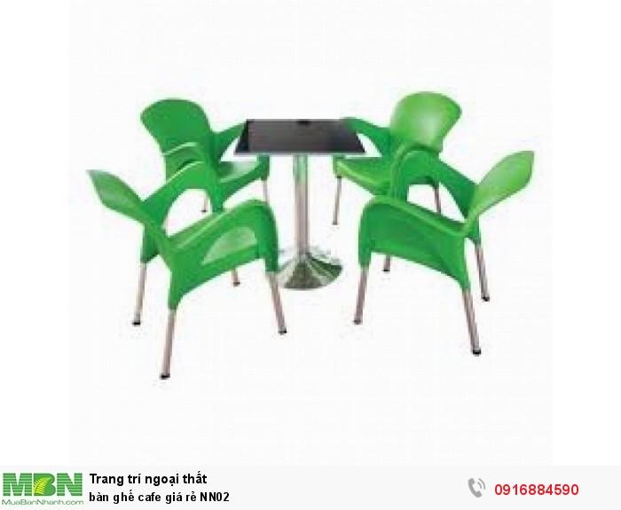 Bàn ghế cafe giá rẻ NN025
