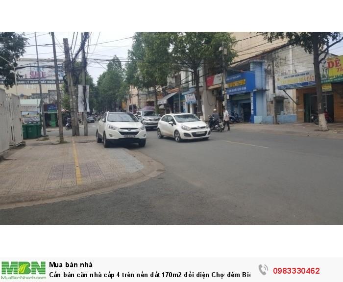 Cần bán căn nhà cấp 4 trên nền đất 170m2 đối diện Chợ đêm Biên Hùng